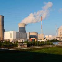 The Belgian nuclear power plant of Tihange is seen in 2009 near Huy. Germany asked neighboring Belgium on Wednesday to temporarily shutter two aging nuclear plants near their border over safety concerns. | AFP-JIJI