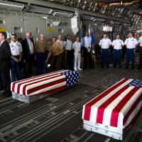 'Taps' played in India of remains of WWII U.S. airmen who flew 'Hump' head home