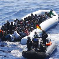 European navy ship rescues 100 migrants off Libya; Cyprus picks up 24