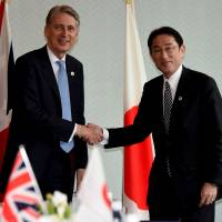 Kishida holds bilateral meetings with G-7 counterparts