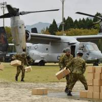 U.S. Ospreys fly in relief as multiquake-hit Kumamoto rocks to new M5.8 aftershock