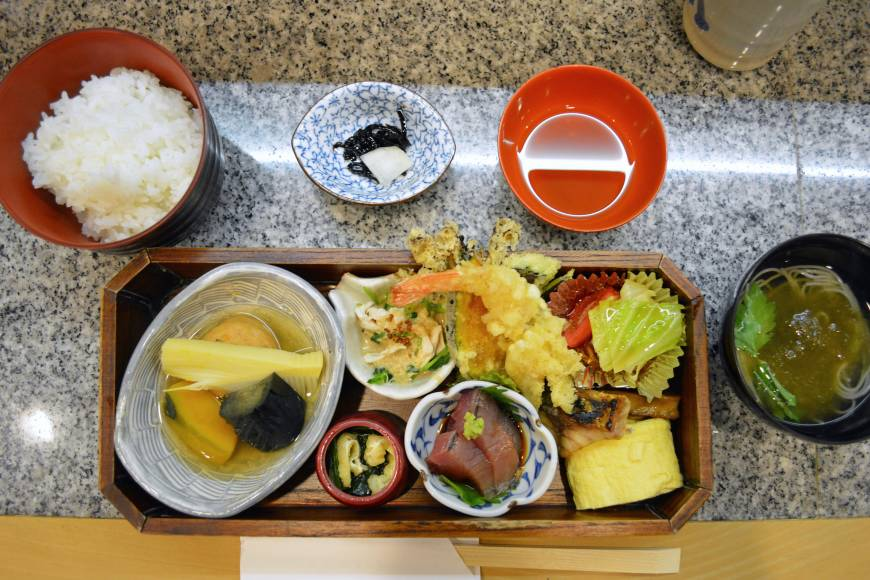 Everything in its right place: Lunch at Ukon is served in a bento box, in the style of kaiseki ryōri (traditional multicourse cuisine). | J.J. O'DONOGHUE