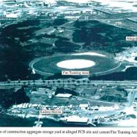 During the 1970s, the U.S. base stored PCB-contaminated oil in an outdoor pond before burning it or selling it to Okinawan civilians. | AN IMAGE RELEASED UNDER THE U.S. FREEDOM OF INFORMATION ACT