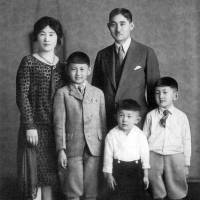 Better days: A portrait of the Fukuharas before World War II shows Harry (left) and Frank (center) with their brother and parents. | COURTESY OF HARRY FUKUHARA