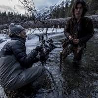 Making the impossible possible: Cinematographer Emmanuel 'Chivo' Lubezki films Forrest Goodluck as Hawk in a closeup shot for 'The Revenant.' | © 2016 TWENTIETH CENTURY FOX