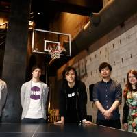 Breaking out: Tokyo-based company Breaker represents YouTube personalities with the aim of finding talent that will translate in the real world also. Shown from left at Breaker's Harajuku space are chief content officer Tomohiro Sato, content producer Dan Wilkinson, CEO Alan Swarts, business producer Shiro Hosojima and artist producer Ana Maria Fernandes. | CHIEKO KATO