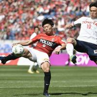 First-place Reds dominant in win over Grampus