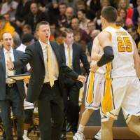 Matt Lottich, seen in a file photo from February, served the past three seasons as an assistant coach for Valparaiso University.   VALPARAISO ATHLETICS