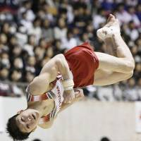 Gymnast Uchimura claims ninth straight national title
