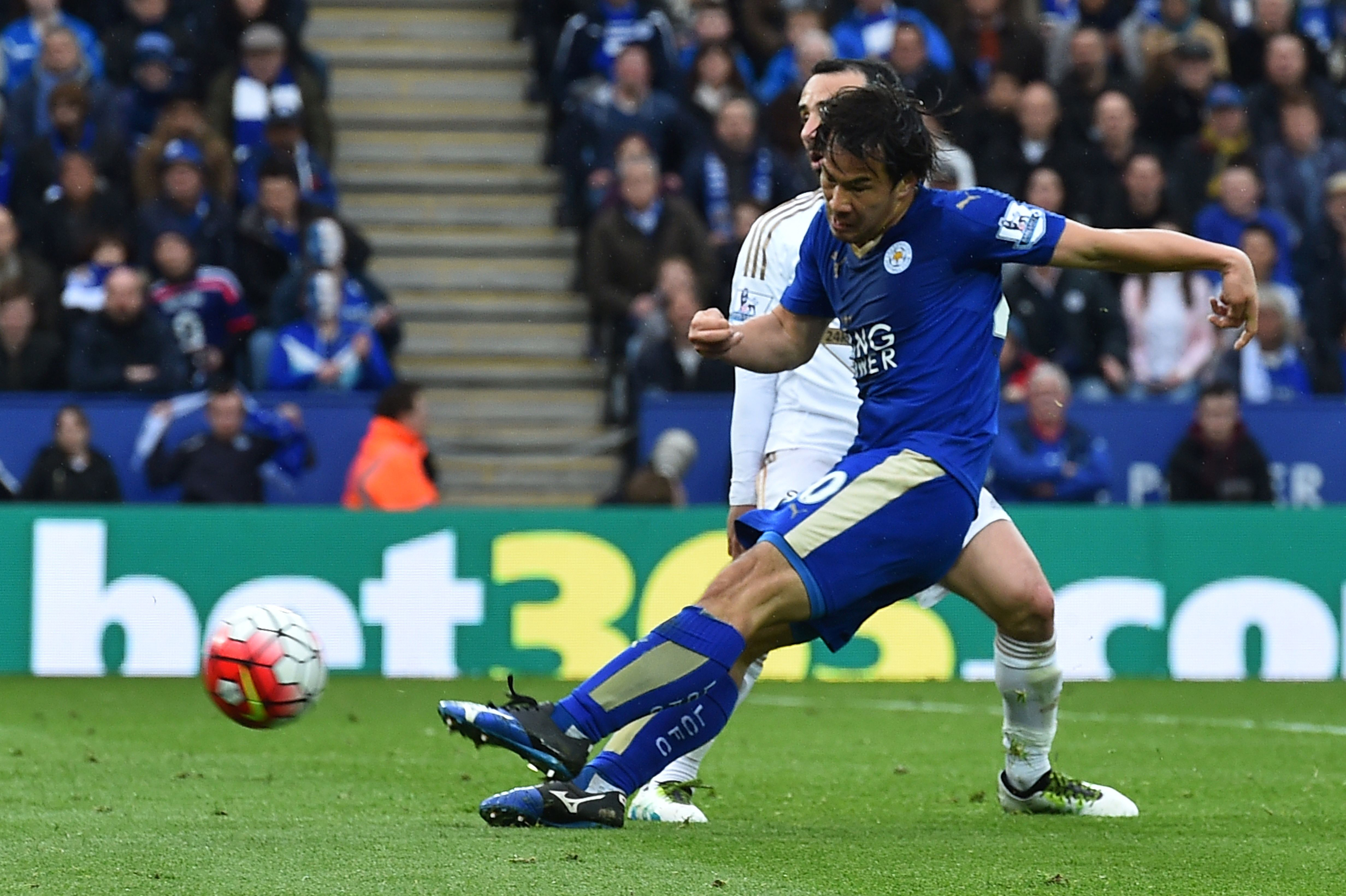 Striker Shinji Okazaki has scored six goals since moving to Leicester prior to the start of the current Premier League campaign. | AFP-JIJI