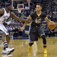 Golden State's Stephen Curry (right) has had to overcome physical disadvantages and recurring injuries to become an NBA star. | AP