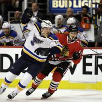 Commanding Blues take down Blackhawks