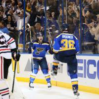 Blues oust champion Blackhawks
