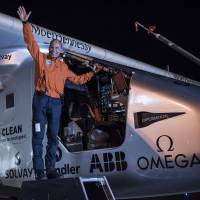 Solar Impulse 2 on global trip completes Arizona-to-Oklahoma leg