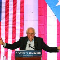 Sanders visits Puerto Rico, urges Fed to restructure debt, hits hedge funds