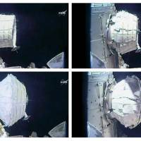 NASA inflates spare room on International Space Station