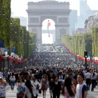 Paris goes green as Champs-Elysees goes pedestrian-only