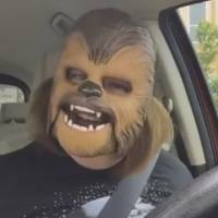 Texas woman and her Chewbacca mask go viral