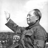Chinese leader Mao Zedong reviews for the first time the armed forces of the 'Great Proletarian Cultural Revolution' in Beijing's Tiananmen Square in August 1966. | AFP-JIJI