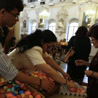 'Holy fire,' fireworks light up night as Orthodox Christians mark Easter