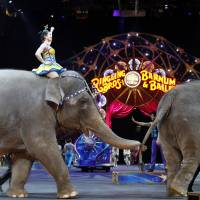 Ringling Bros. ends 200-year tradition as circus elephants bow out after last show