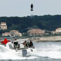 Frenchman scores Guinness record with hoverboard flight of over 2 km