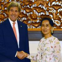 Kerry praises Myanmar's 'remarkable' evolution toward democracy following talks with Suu Kyi