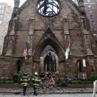 Mystery blaze guts historic New York City church after Orthodox Easter service