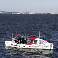 Norwegian, 70, sets off from N.Y. to row across Atlantic, retrace pair's 1896 feat