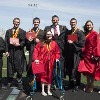 First surviving septuplets line up for Iowa high school diplomas