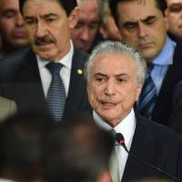 Brazilian women angry at all-male new government