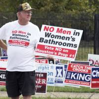 Ruling backing gay marriage sent transgender toilet access debate raging across U.S.