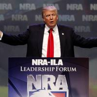 Trump slams Clinton for 'heartless' restrictions on owning guns