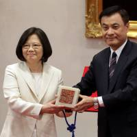 Under China's watchful gaze, Tsai sworn in as new Taiwan president