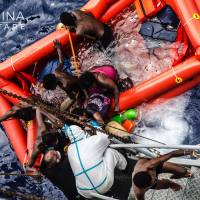 Ship sank off Italy with hundreds aboard, rescued migrants say