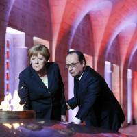 Hollande, Merkel urge unity at Verdun centenary on day 'Europe lost its way'