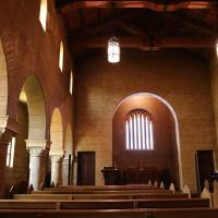 Kobe College's Searle Chapel was designed by missionary and architect William Merrell Vories.   KYODO