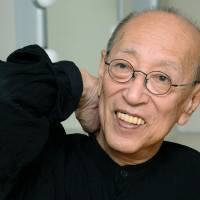 Stage director Yukio Ninagawa is interviewed in Tokyo in 2013. He died Thursday, aged 80, of multiple organ failure caused by pneumonia. | KYODO