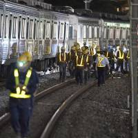 No injuries after train partially derails on Tokyo's Tobu Tojo Line