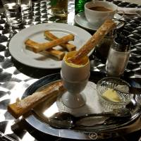 The classic egg with soldiers — strips of toast, perfectly shaped for dunking, and available all day.  | ROBBIE SWINNERTON