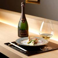 A toast to the arranged marriage of Champagne and 'kaiseki'