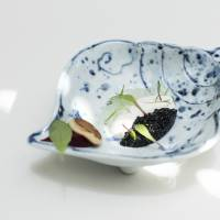 Fine dining paired with fine ceramics;  feast to mark first anniversary;  East meets West in natural setting