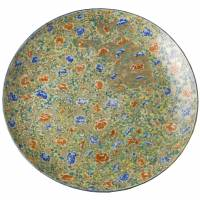 Large dish with design of lions and peonies in overglaze polychrome enamels (1875) by Koransha | PRIVATE COLLECTION, PHOTO BY SEKAI BUNKASHA