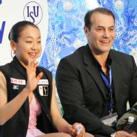 Mao Asada and coach Rafael Arutunian, seen here at the 2006 NHK Trophy in Nagano, had a short but fruitful partnership that came to an abrupt end in January 2008. | AP