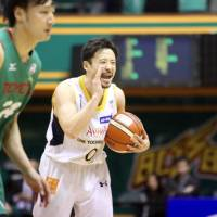 Point guard Yuta Tabuse, seen in a file photo from this season in Tokyo, helped the Brex earn the No. 2 seed for the NBL playoffs. | KAZ NAGATSUKA