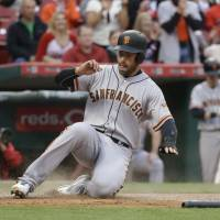 Crawford leads way as Giants outslug Reds