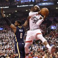 Raptors survive rally to eliminate Pacers