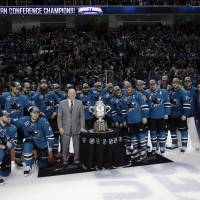 Sharks down Blues to make Stanley Cup Final for 1st time