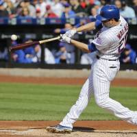 Mets down Giants for eighth straight victory