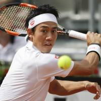 Nishikori eases past Gasquet at Italian Open